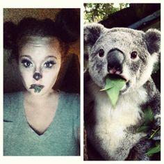 Koala bear makeup / Halloween costume