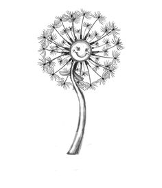 Dandelion Cartoon Flowers Coloring Pages Book