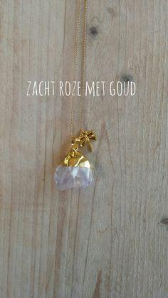 Ketting #agath #goud #libelle