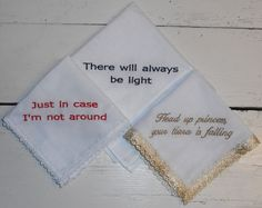 Dames zakdoekjes met tekst