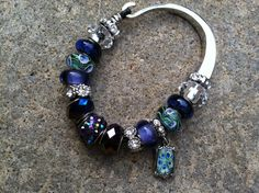 PEACOCK bracelet by MaureenParkerBeads on Etsy, $40.00