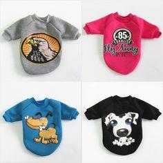 Pet koiran vaatteet takki vaatteet Pieni sarjakuva lemmikki Dog Vaatteet takki Koiranpuvut Lemmikkieläinten vaatteet pieni koira Pet vaatteet 5 väriä S-XL Hoodie, Costume, Sweatshirts, Sweaters, Mens Tops, T Shirt, Fashion, Supreme T Shirt, Moda