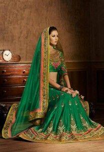 Stylish lehenga style Saree for stunning Indian brides 2015- 2016.