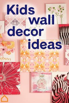 Pick out wall decorations that match your child's personality. Whether they love pink or yellow, animals or flowers, there's a piece of art perfect for their unique style. Kids Wall Decor, Nursery Decor, Wall Decorations, Playroom Ideas, Mandala Skull, Fun Crafts, Crafts For Kids, Interior Paint Colors For Living Room, Free Printable Art