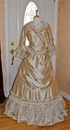 Deluxe Mina Dracula Victorian Gothic Custom Silk Gown