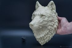 Wolf head wall mount, faux taxidermy, indoor wall decor. Here is the second model we made recently. The model is hollow, light and durable, equipped with screw hole on the back for mounting the model on the wall. We would like to present our Wolf head in several colors.