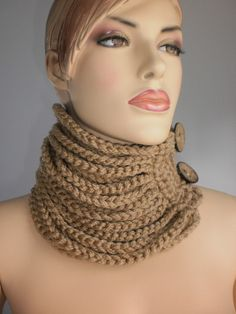 Crochet Cowl Scarf  Neck Warmer Winter Accessories. $45,00, via Etsy.