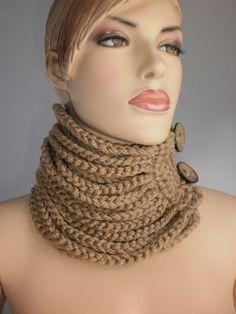 Crochet Cowl Scarf  Neck Warmer Winter Accessories par levintovich