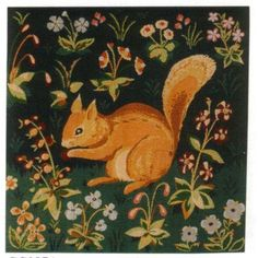 Medieval Squirrel French Tapestry Cushion
