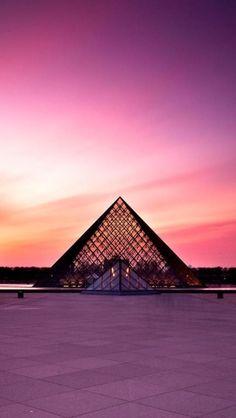Sunset - Louvre, Paris. La French Touch