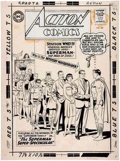 https://hakes.com/Auction/ItemDetail/84487/CURT-SWAN-ACTION-COMICS-309-COMIC-BOOK-COVER-ORIGINAL-ART-FEATURING-SUPERMAN-FAMILY-JFK