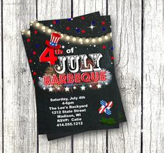 of July Invitation july barbeque bbq invitation printable red white and blue firework invite chalkboard independence day flag Printable Baby Shower Invitations, Baby Shower Invites For Girl, Independence Day Flag, Halloween Birthday Invitations, Blue Fireworks, Thanksgiving Invitation, Floral Invitation, Invitation Design, 4th Of July