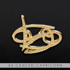 40 Cancer and Capricorn Gold Unity Pendant by UnityDesignConcepts, $99.99