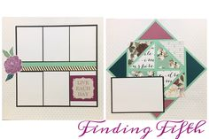Layout 3 'Live Beautifully' KPedersen workshop. This version by Finding Fifth Inspired by Jacquie Kubler