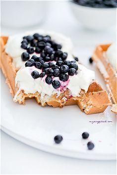 Waffles - light and fluffy Crepes And Waffles, Homemade Waffles, Sweet Pie, Polish Recipes, Healthy Breakfast Recipes, Diy Food, Food Inspiration, Sweet Treats, Dessert Recipes