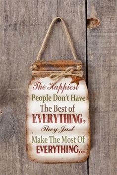 """Make The Most Of Everything"" Mason Jar Wall Decor"