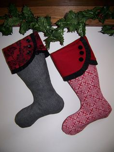 Christmas Stocking pdf Pattern and Tutorial Easy pattern Immediate Download e-file