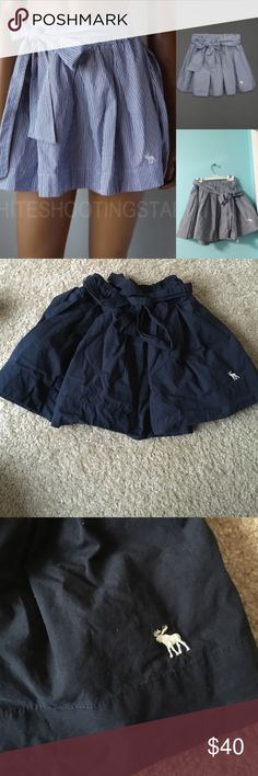 Abercrombie & Fitch navy skirt Never worn needs to be ironed, great condition Abercrombie & Fitch Skirts