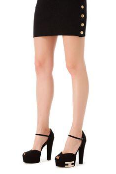 Sandals with maxi logo - Elisabetta Franchi