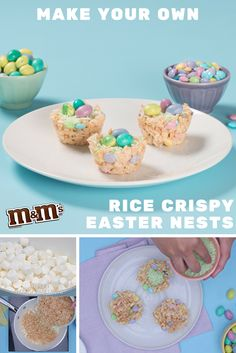 A step by step guide to creating this season's more nomworthy M&M'S Rice Crispy Easter Nests. Easter is better when it's #MadeWithM. Find the full recipe right here: https://www.youtube.com/watch?v=iax_JoXFKDw