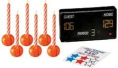 Basketball Birthday Candles and Decoration Set