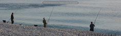 Fishermen Chesil beach.