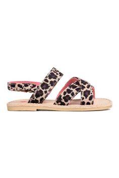 Leopard-print sandals