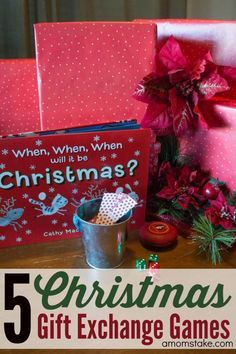 5 fun, quick and easy Christmas gift exchange games that work with any group! Perfect for your Holiday parties!