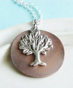 Silver Necklace - WIllow Tree Necklace - The Giving Tree