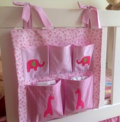 Cot Organizer Cot Pocket Cot Tidy Nappy Storage by twodaisychains, $45.00