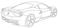 Ferrari 458 Coloring Page
