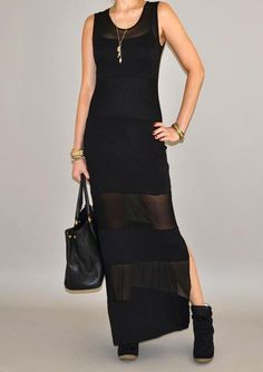 Obsessed with this Black Mesh Maxi!!! Can be work so many ways!! From Urban Philosophy! #fashion #womansfashion #shopping