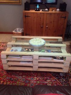 Our home made coffee table