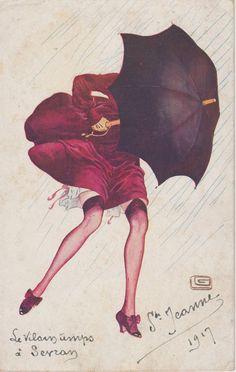 Georges Leonnec, 1917 Quel coquin, ce vent!