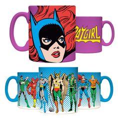 DC & Batgirl Coffee Mug Set - I must have that purple Batgirl mug!