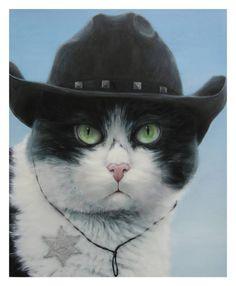 "Saatchi Art Artist Angela Lizon; Painting, ""Cowboy Joe from Mexico   SOLD"" #art"