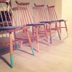 Dip dye chairs