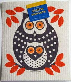 This marvelously absorbent Owl dish cloth from Sweden is a wonder in the kitchen. You'll never want to go back to sponges or regular cloth when you see how it works. http://www.scandinavianshoppe.com/store/p/60-Swedish-Dishcloth-Owl.html