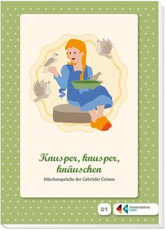 """Lesebüchlein zum Erinnern für Menschen mit Demenz: """"Knusper, knusper, knäuschen ..."""" Märchensprüche der Gebrüder Grimm. ++ #Märchen sind im #Gedächtnis demenziell veränderter Menschen tief verankert und mit vielen Emotionen verknüpft. Dieses #Lesebüchlein vereint die bekanntesten Märchensprüche der Brüder Grimm. #Demenz #Alzheimer #Aktivierung"""