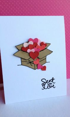 Un simpatico biglietto di San Valentino! #love #card #lovecard #biglietti #lettere #sanvalentino #heart