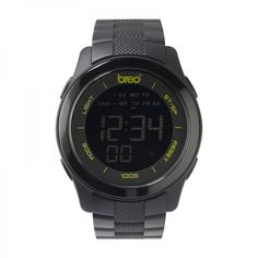 Our Orb 10 watch in black with chronograph, lap timer and 10 atm water resistance.