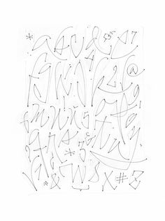 """This series was made on rice paper with a thin marker. 2012 This piece of work belongs to my new book """"Alphabet, flora and fauna"""". Fancy Fonts Alphabet, Hand Lettering Alphabet, Typography Letters, Creative Lettering, Graffiti Lettering, Lettering Styles, Calligraphy Alphabet, Calligraphy Fonts, Script Fonts"""