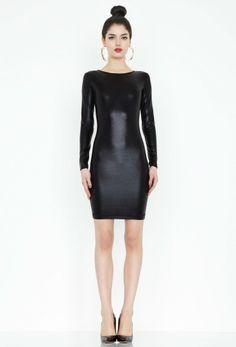 Tina Black Foil Mini Dress £85