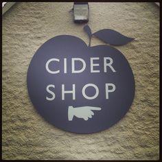 Cider shop sign