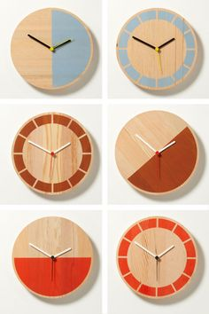 David Weatherhead & GOOD for Thorsten van Elten. The minimally designed Primary Clocks. (thedesignerpad.com)