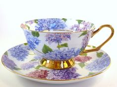 Kayleigh Fine Bone China tea cup and saucer 2 pc.: Amazon.co.uk: Kitchen & Home
