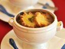 Recipe: Soupe à l'Oignon (Onion Soup) :: Simone Beck, Louisette Bertholle, and Julia Child :: Culinate