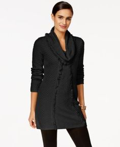 Style & Co. Fringe Tunic Sweater, Only at Macy's