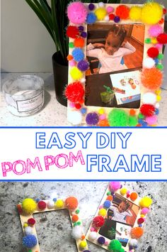 Looking for Amazing Crafts for Kids? Well this super easy pom pom craft for kids will be a hit and doubles as a keepsake craft! #craftsforkids