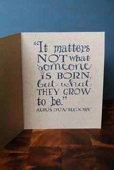 Dumbledore Quote Birthday Card